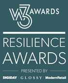 W3 Award logo and Digiday Resilience Awards