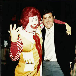 Founder Ted Perlman with Ronald McDonald