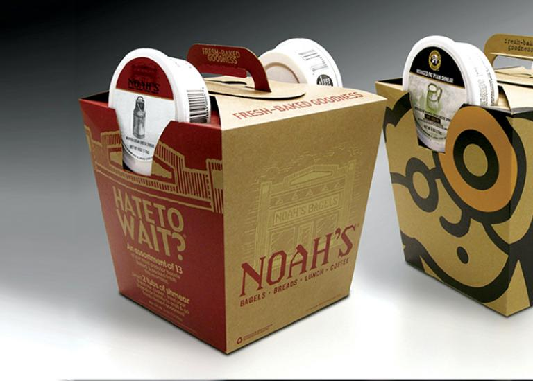Einstein's and Noah's bagel boxes